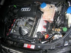Equipement GPL moteur V8 AUDI- Catalgaz