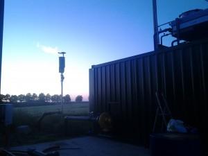 Biogaz brûlé à la Torchère