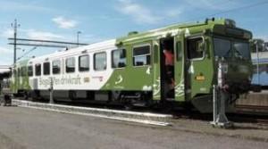 Train à moteur au Biogaz en Suède