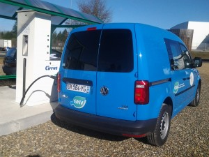 VW Caddy GNV flotte ErDF Mont de Marsan