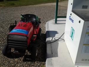 Carburant VERT pour notre tondeuse GNV
