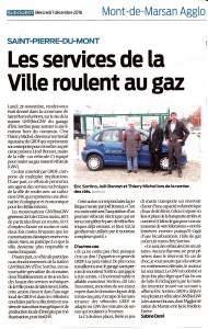 Article GNV journal Sud Ouest décembre 2016